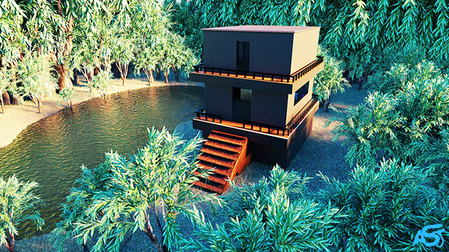 House In The Forest - 3D Animation by Ali Soltanian Fard Jahromi