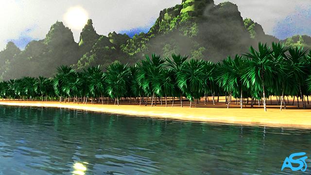 Tropical Island Animation by Ali Soltanian Fard Jahromi